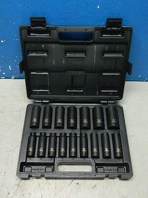 "Proto Blackhawk 16 Pc. Metric Deep Impact Socket Set 10mm - 27mm 1/2"" Drive 6 Pt"