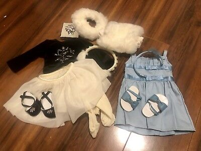 American Girl doll clothes lot, blue dress and winter outfit, AG, 18 inch doll