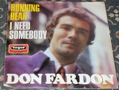"Don Fardon : Running Bear,Vogue,7"",im Bildcover"