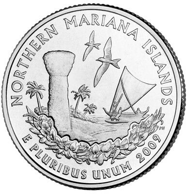 2009 P or D Northern Mariana Territorial Quarter New U.S. Mint Uncirculated""