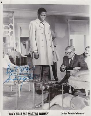 Sidney Poitier  Signed Autograph B&w 8 X 10 Photo - A Great Collector Gift -
