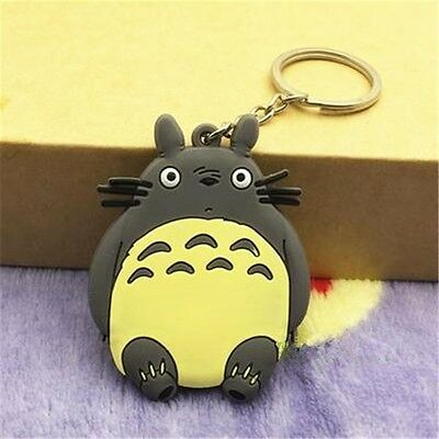 Anime Film My Neighbor Totoro Pendant Keychain Kryrings PVC 6cm Double-side Toy