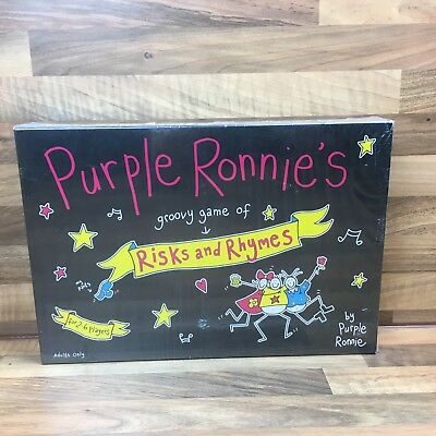 Purple Ronnie's Groovy Game Of Risks And Rymes Adult Board Game