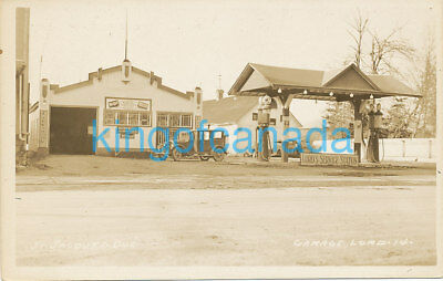 Canada Quebec St Jacques Lord Gas Station Garage Pumps Auto RPPC 1930