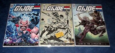 G.I. JOE #247 1:10 RI cover variant + A & B 1st print set NEW SNAKE EYES IDW NM