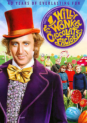 WILLY WONKA AND THE CHOCOLATE FACTORY DVD 40th Anniversary >NEW<