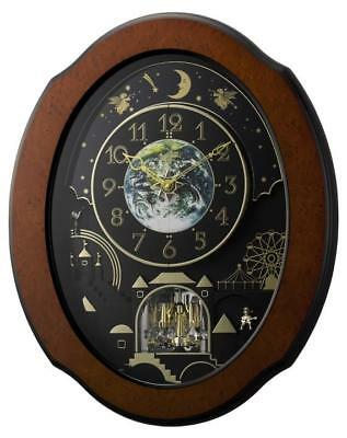 Rhythm 4MH879WU06 Timecracker Cosmos Clock NEW!!