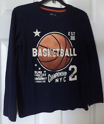 Gap Kids Boys Long Sleeve Navy Blue Basketball Shirt Size Large 10/12