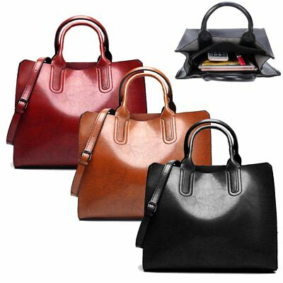 Large Handbag Laptop Bag Ladies Women Designer PU Leather Shoulder Tote