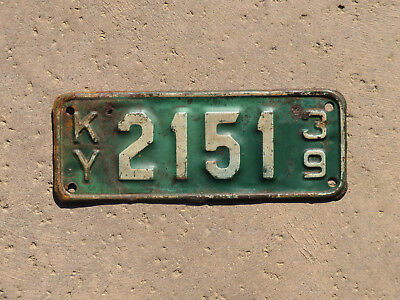 1939 Kentucky Motorcycle License Plate