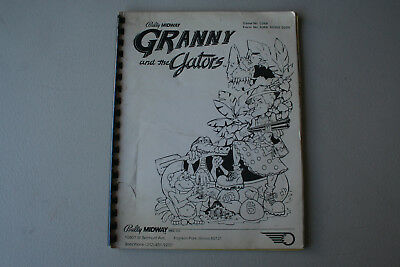 Original Bally/Midway Granny and the Gators Pinball Manual with Schematics