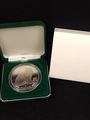 1990 Isle of Man - NEW YORK ALLEY CAT - 1 Oz .999 Silver Proof Coin No Reserve