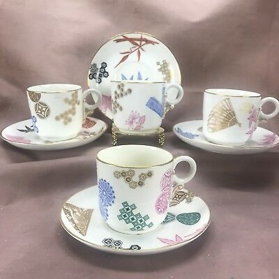 (4) RARE!!! 1879 Royal Worcester Aesthetic Movement Cup & Saucer B43