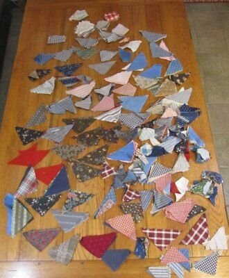 Antique c 1870s Large Grouping of Quilt Triangles Berks Co Pennsylvania