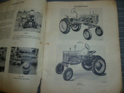 Farmall Cub 22 Tractor Owners Manual.  Original.  Good Condition. 70 pages.