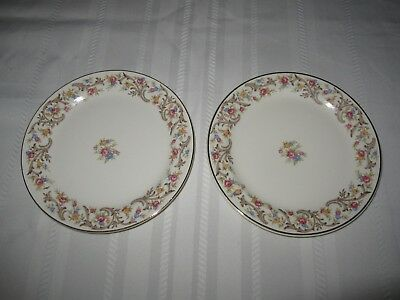 Two vintage TAYLOR, SMITH, TAYLOR 6 1/2 inch china dinner plates - USA