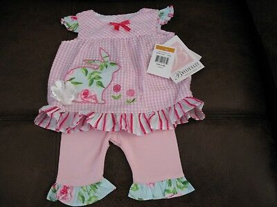Gorgeous Bonnie Baby Boutique 2 Piece Outfit For Reborn Baby Girl New/tags