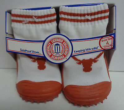 Skidders Toddlers No Skid Texas Long Horn Shoes NWT Sz 4/12 Months