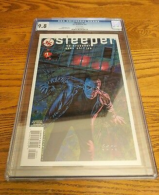 D.C/Wildstorm Sleeper #1 CGC 9.8 White Pages 3/03 Ed Brubaker/Sean Phillips