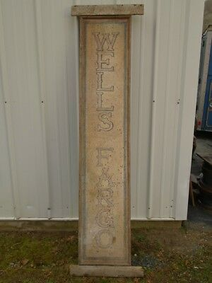 Wells Fargo & Co Express Agency 6ft Wood Station Sign Stagecoach Bank Wild West