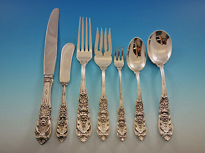 Richelieu by International Sterling Silver Flatware Service for 12 Set 92 pcs
