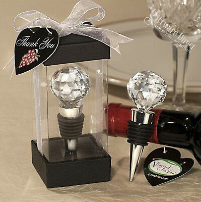 Crystal Bottle Stopper Wedding Favour Wine Bride Gifts Bomboniere