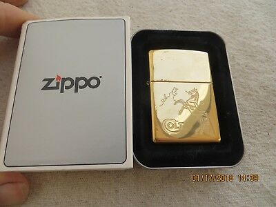 Zippo Colt Horse Lighter Sam Colt Solid Brass Case New Still Sealed
