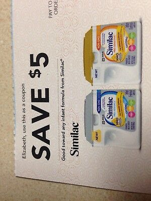 Similac Checks - Coupons - Worth $20 -Infant Formula Expires 2/13/18 and 3/3/17