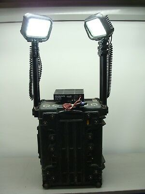 Pelican 9470 RALS Rechargeable Area LED Lighting System Black Case W/ 4 Lights!