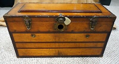 Machinist Tool Box Hiqh Quality Vintage with Many Starrett,  Brown & Sharpe and
