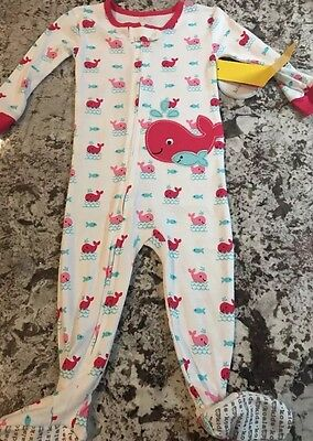 Nwt Baby Girl One Piece Pajamas Size 12 Months