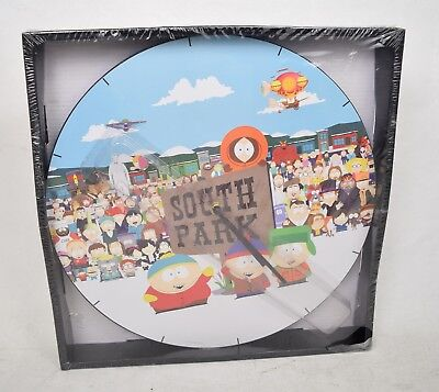 """South Park 13.5"""" Cordless Wall Clock Opening Credits Cast Scene New"""