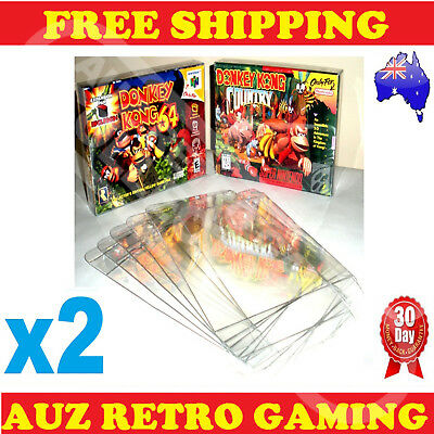 2x Thick GAME BOX PROTECTORS Cases 4 Super Nintendo SNES & Nintendo N64 BOXED