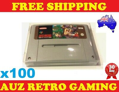 100x Thick GAME CART PROTECTORS Cases For SNES Super Nintendo Games Cartridge