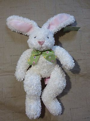 "Russ White Fuzzy Bunny Rabbit 12"" plush Dazzles Bouquets N' Blossoms"