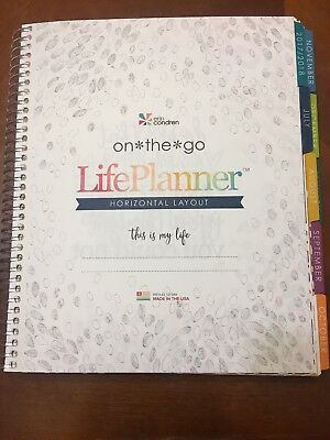 Erin Condren Life Planner July 2017- December 2018 horizontal layout