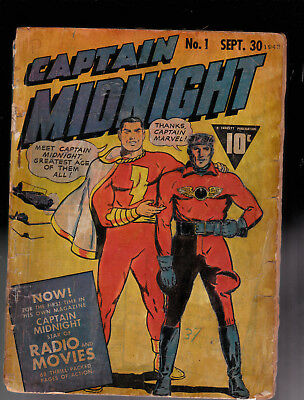 Captain Midnight 1 Rough copy very Brittle pages traced on cover  Raymond Miller