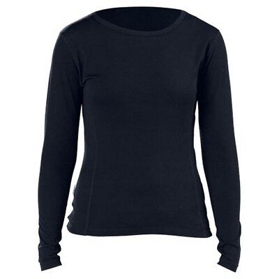 Castle X Mid Weight Crew Neck Womens Winter Merino Top Layer Black
