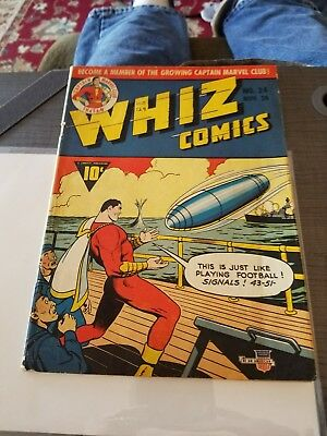 Whiz Comics 24 Captain Marvel Solid Copy WWII cover Raymond Miller collection