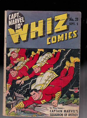 Whiz Comics 21 Captain Marvel Tape CFO Raymond Miller