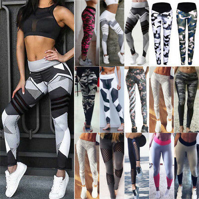 Womens Sports Gym Yoga Workout Leggings Fitness Trouses Athletic Training Pants