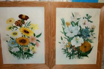 Pr VINTAGE ROSES CHIC OIL PAINTINGS FLORAL SHABBY NICE COTTAGE FRENCH PARIS APT