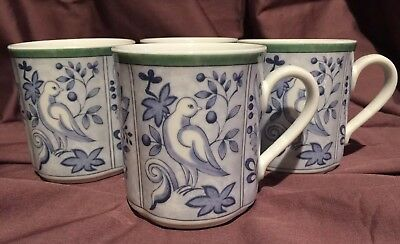 Villeroy & Boch Country Collection Switch 3 Cordoba Birds Design Mugs Cups 4 Pcs