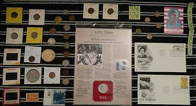 Junk Drawer Lot: Old US Coins 1865+, Silver Coins, 1909 VDB Wheat Penny VINTAGE+