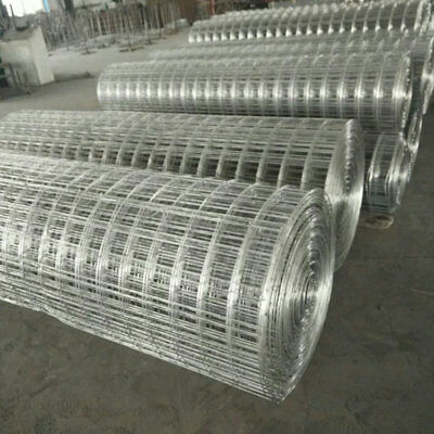 AU stock!Galvanized welded wire mesh roll 1.5m*30.5m100mm*100mm*2mm, $73/roll