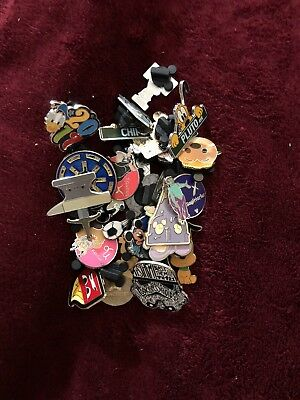 Disney Trading Pin Lot Of 25 -100% Tradable - No Duplicates - Fast U.s. Shipper