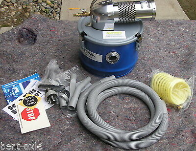 New Never Used Nortech Model N041Mc Pneumatic 4 Gallon Vacuum W/ Attachements