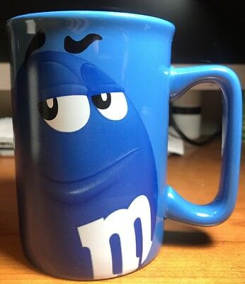 M&'M's Blue Character Coffee Cup Ceramic Mug Collectable Souvenir Drinking Glass