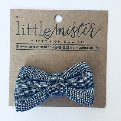 Little Mister Navy Blue Boys Bowtie 0-2t