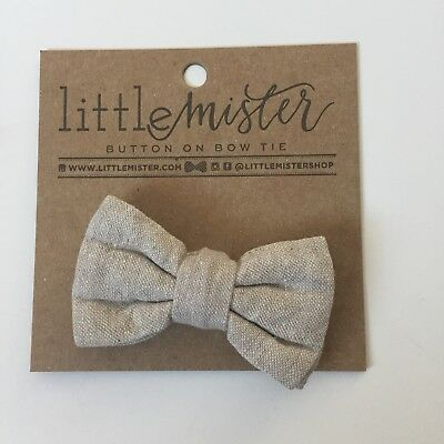 Little Mister 0-2t Button On Bowtie Tan